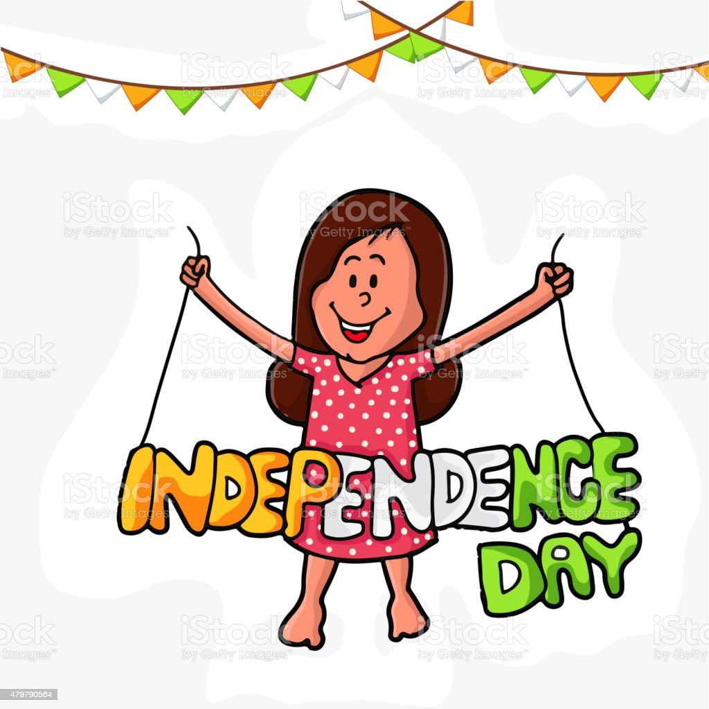 royalty free indian girl celebrating happy independence day of india rh istockphoto com  indian independence day clipart black and white