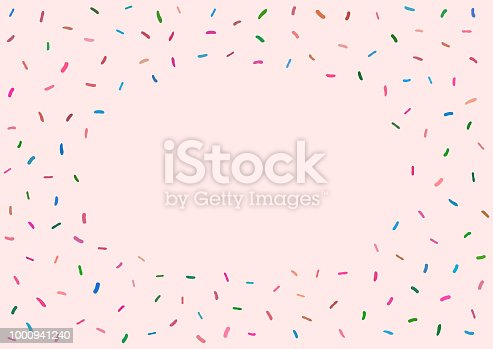 Cute girlish background with donut glaze. Colorful sweet vector illustration.