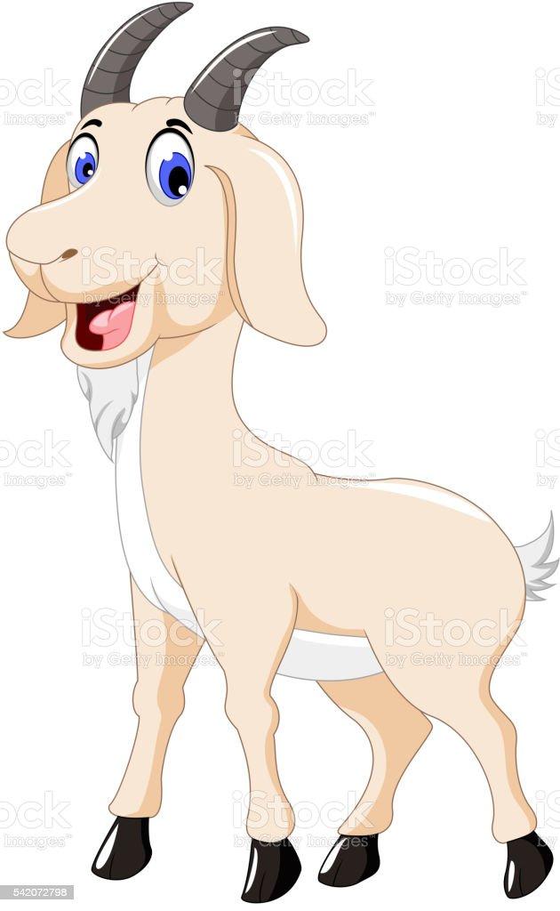 Ilustración de Cabra Dibujos Animados Lindo Diseño Para Usted y más ...