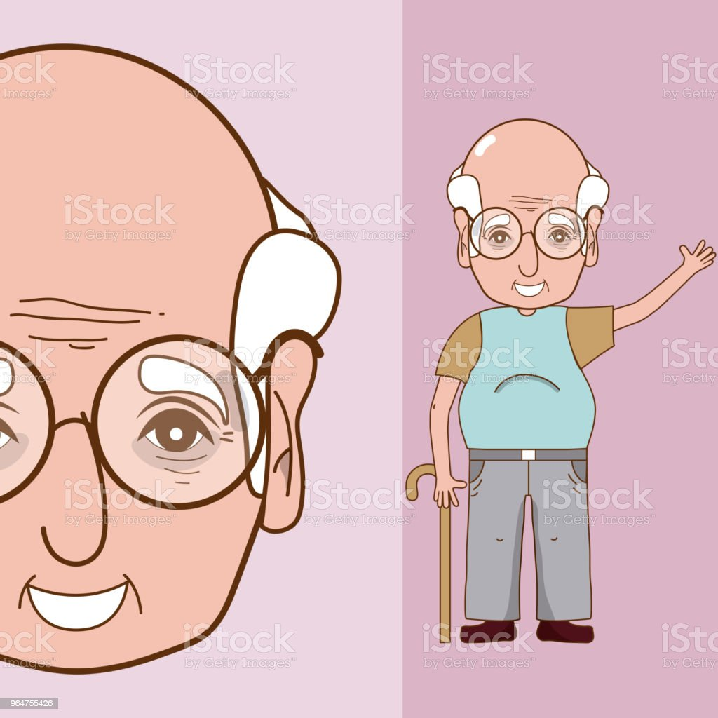 Cute grandfather cartoon royalty-free cute grandfather cartoon stock vector art & more images of no people