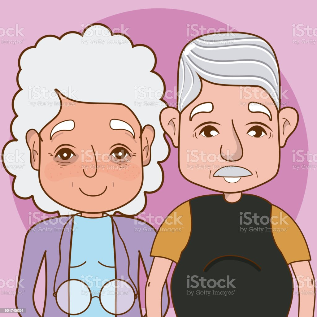 Cute grandparents cartoon royalty-free cute grandparents cartoon stock vector art & more images of adult
