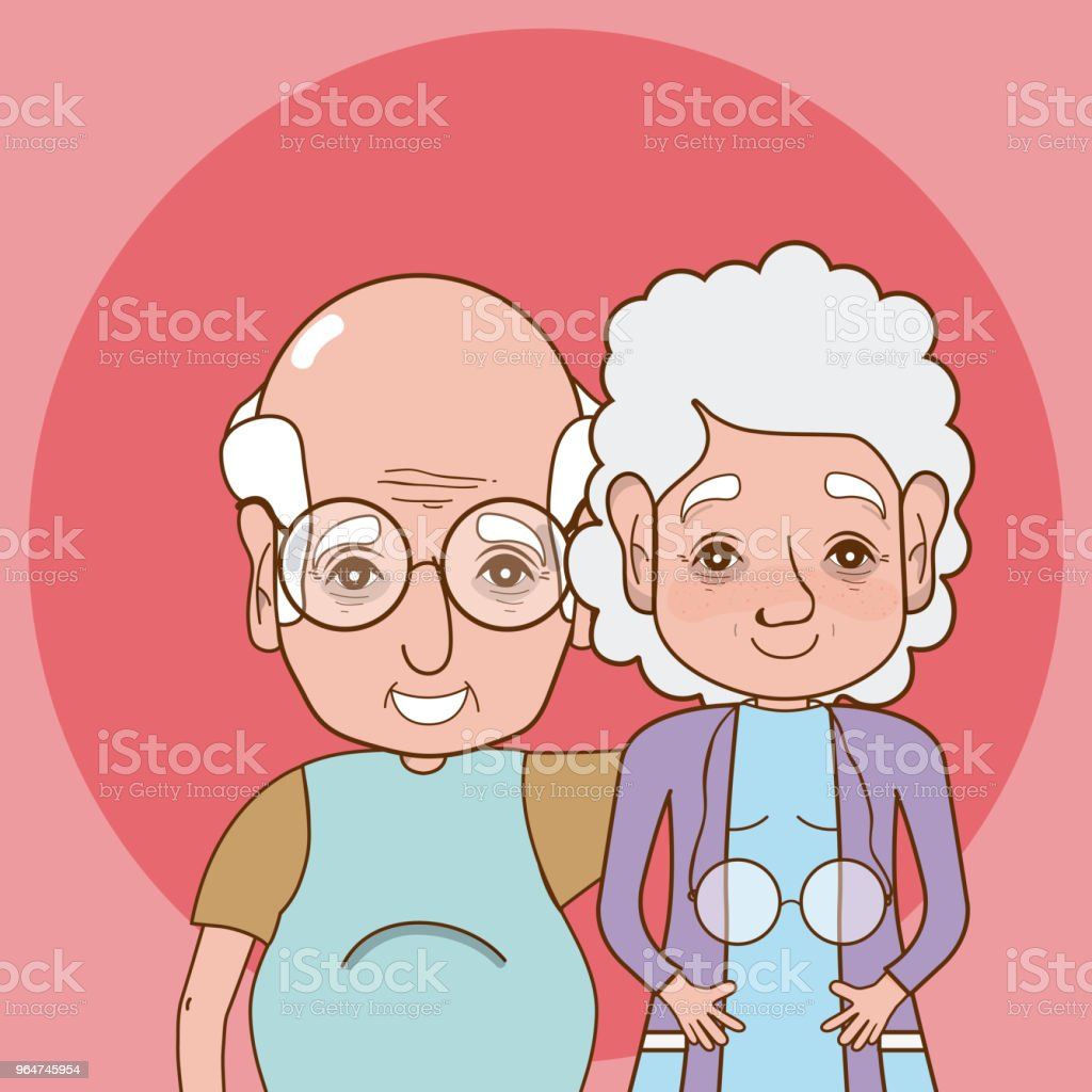 Cute grandparents cartoon royalty-free cute grandparents cartoon stock vector art & more images of adult