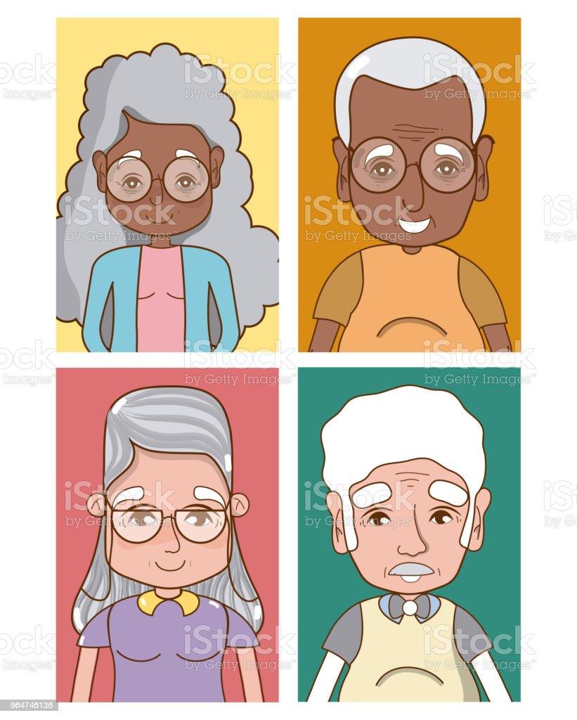 Cute grandparents cartoons royalty-free cute grandparents cartoons stock vector art & more images of no people