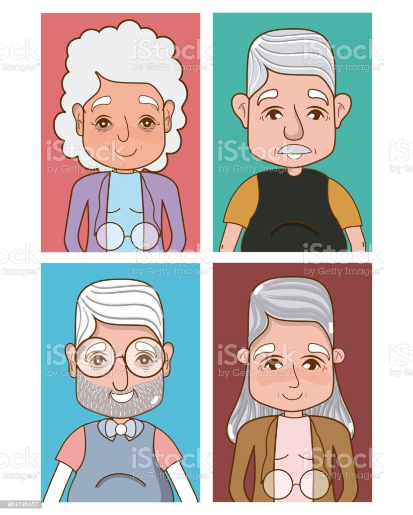 Cute grandparents cartoons royalty-free cute grandparents cartoons stock vector art & more images of adult