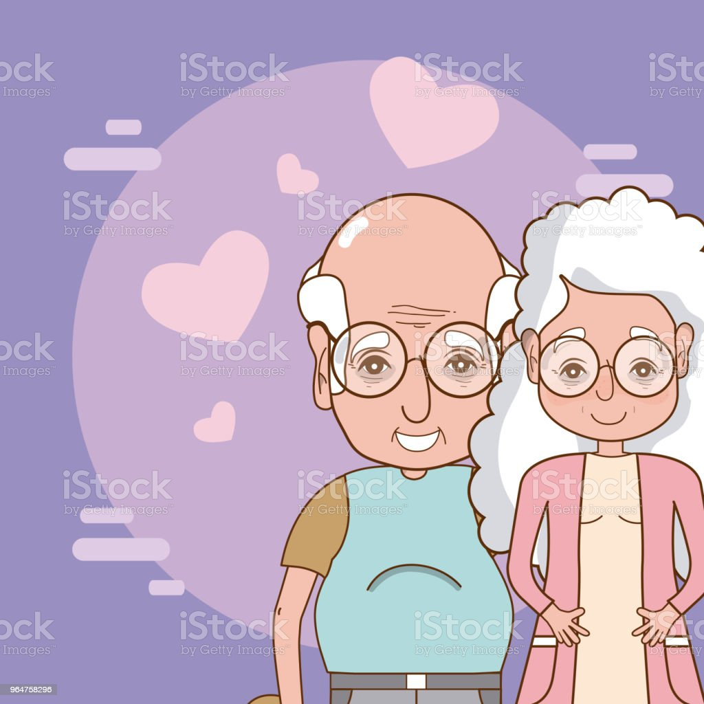 Cute grandparents couple royalty-free cute grandparents couple stock vector art & more images of adult