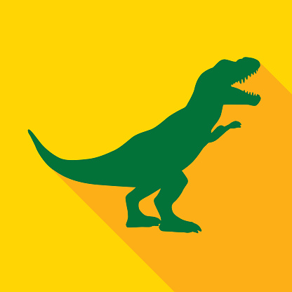 Cute Green And Gold Dinosaur icon