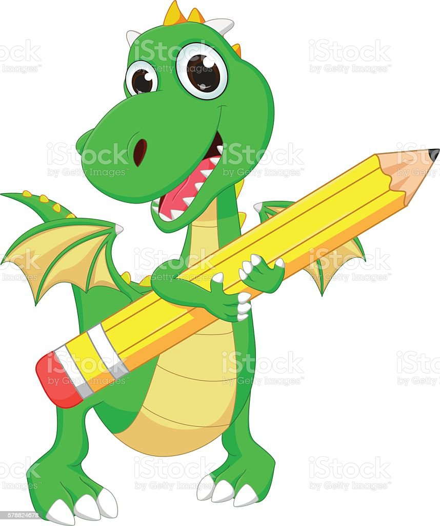 royalty free cute green dragon reading a book clip art vector rh istockphoto com Clip Art Reading Quotes Math Clip Art