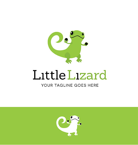 cute green lizard icon for creative use - gecko stock illustrations, clip art, cartoons, & icons
