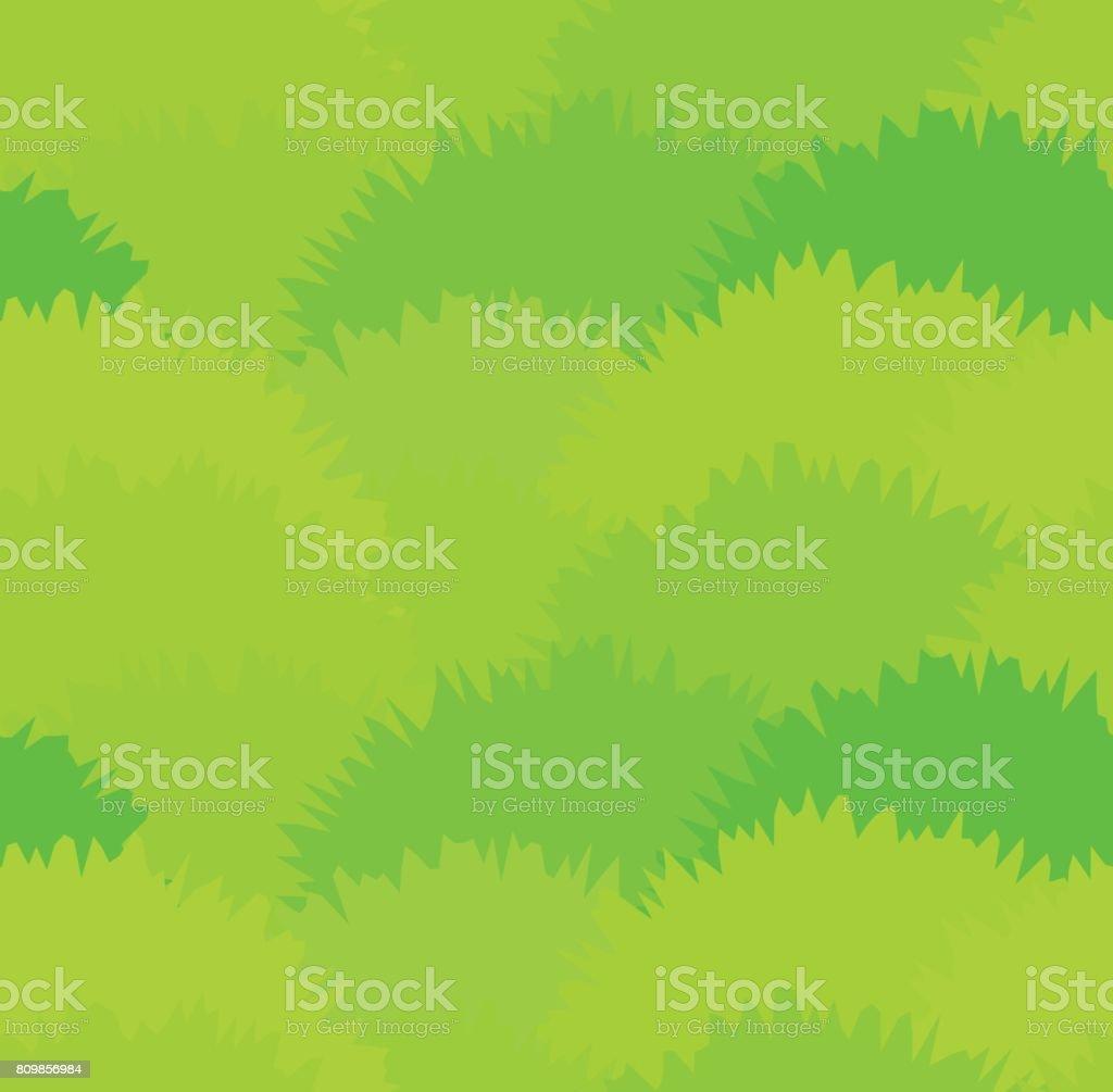 Bonito prado verde grama padrão sem emenda. Textura de arbustos verde de ervas - ilustração de arte em vetor