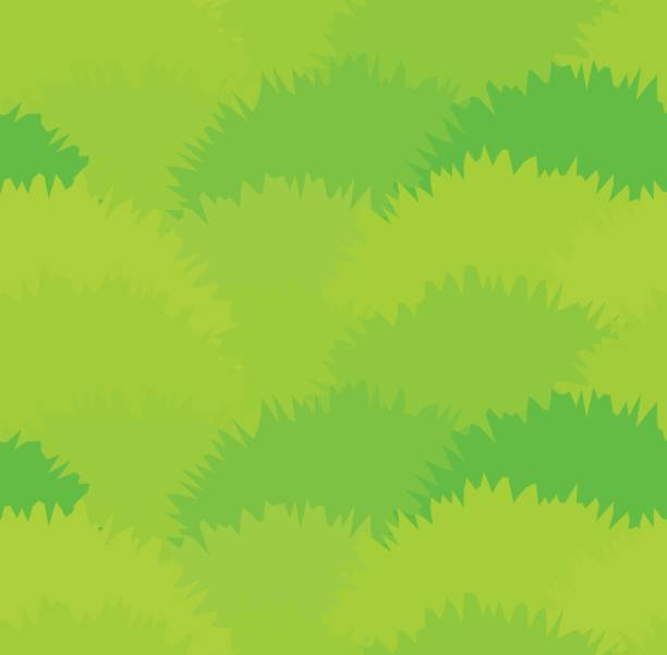 Cute green meadow grass seamless pattern. Green herbal bushes texture Cute green meadow grass seamless pattern. Green herbal bushes or moss texture for textile, backgrounds, wallpaper, covers, surface, banners moss stock illustrations