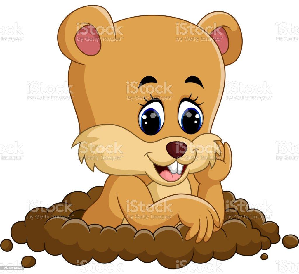 cute groundhog cartoon stock vector art 591825800 istock