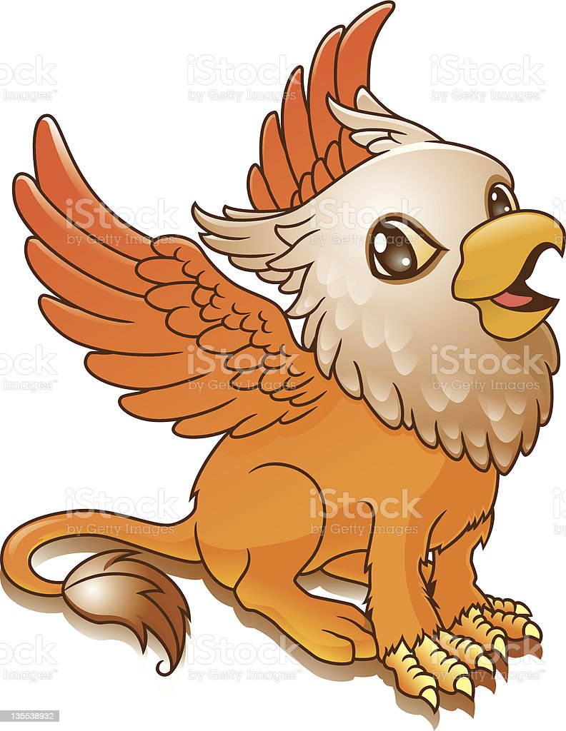 Cute Gryphon royalty-free stock vector art
