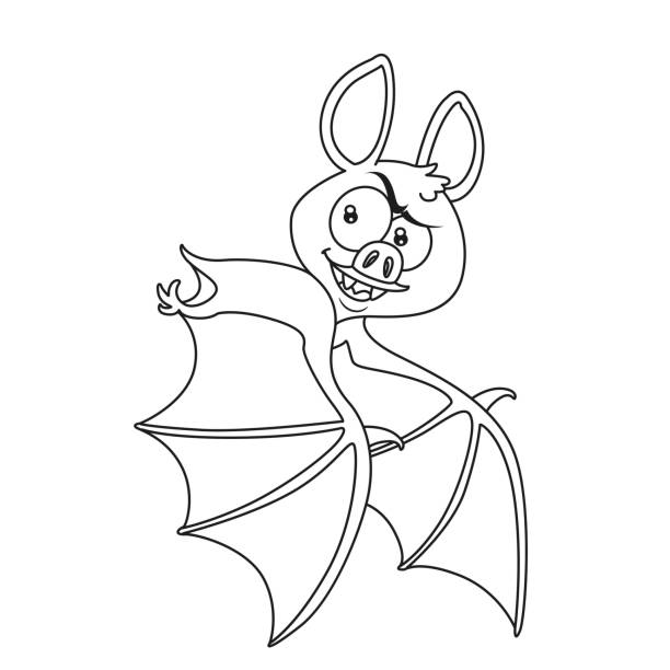 Best Bat Coloring Pages Illustrations, Royalty-Free Vector ...