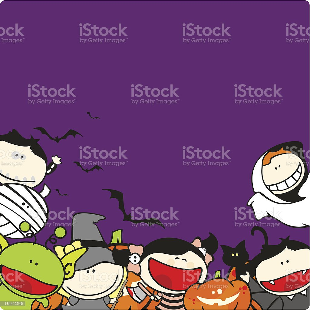 Cute Halloween cartoon for children royalty-free stock vector art