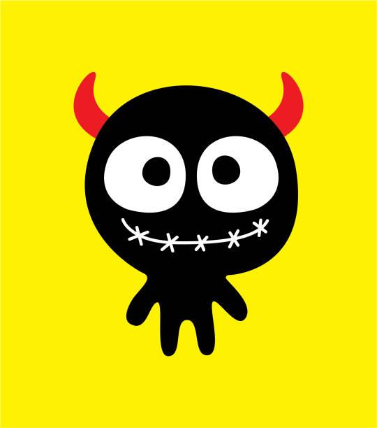 Cute Halloween gruselige Monster Charakter Vektor-illustration – Vektorgrafik