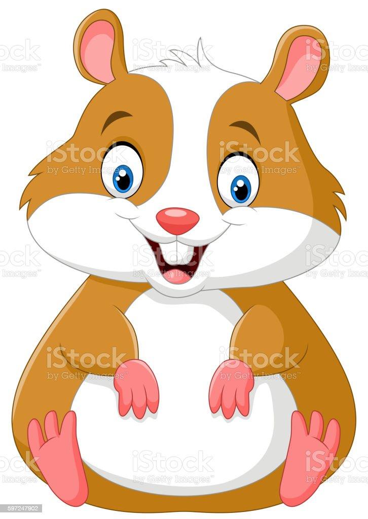 Hamster dessin anim mignon vecteurs libres de droits et - Hamster dessin anime ...