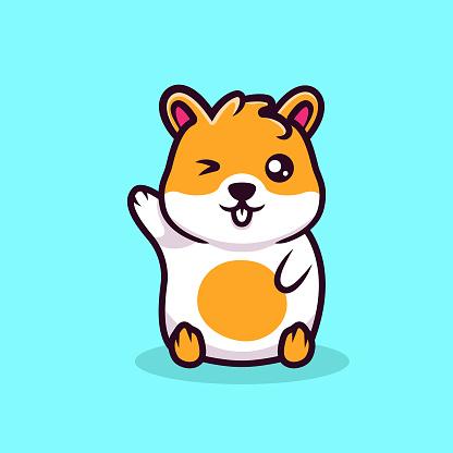 Cute hamster mascot design