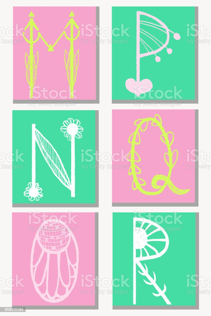 Cute hand drawn alphabet in flower style made in vector doodle cute hand drawn alphabet in flower style made in vector doodle letters m n altavistaventures Gallery