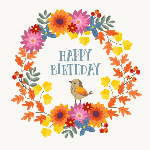 Best October Birthday Illustrations Royalty Free Vector