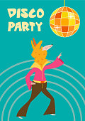 Cute hand drawn card or poster with cartoon llama in retro style. Vector illustration with text.