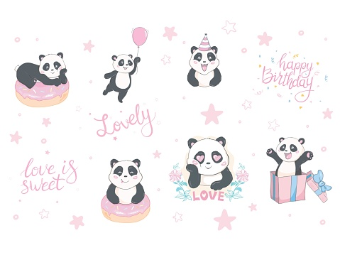 Cute hand drawn cards, brochures, invitations