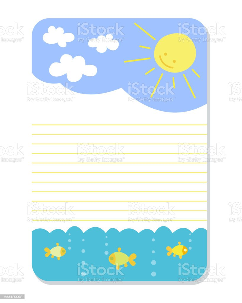 Cute Hand Drawn Doodle Birthday Party Baby Shower Card Brochure Invitation  Cartoon Printable Template Background Vector