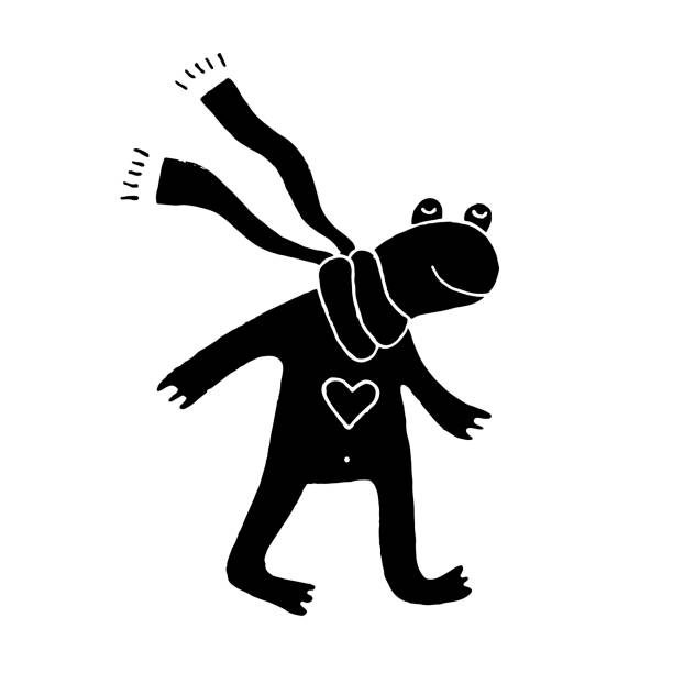 Best Frog In Winter Illustrations, Royalty-Free Vector ...