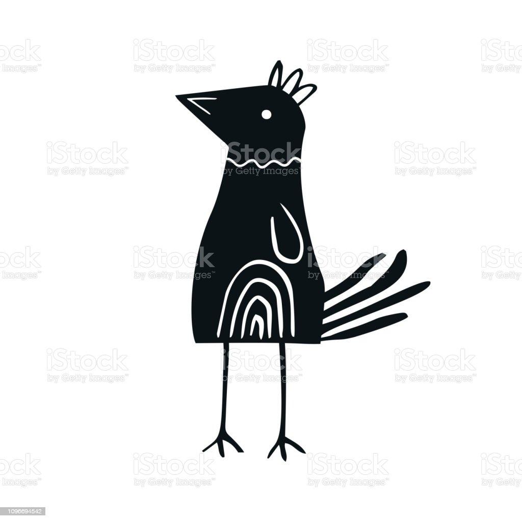 Susse Handgemalte Kinderzimmer Poster Mit Vogelchen Im