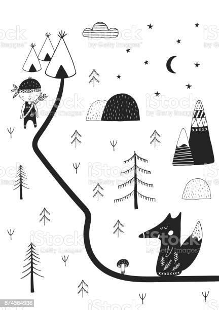 Cute hand drawn nursery poster with wild cartoon animal in style vector id874364936?b=1&k=6&m=874364936&s=612x612&h=2 aehm0pbpt0klfo8iz70emfn2nrlc3gu6apidbkjz4=