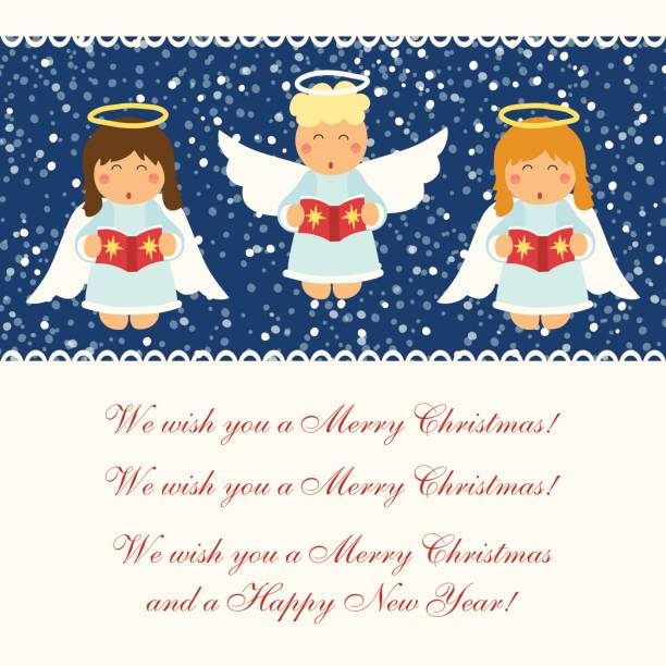 Best Angels Singing Illustrations, Royalty-Free Vector