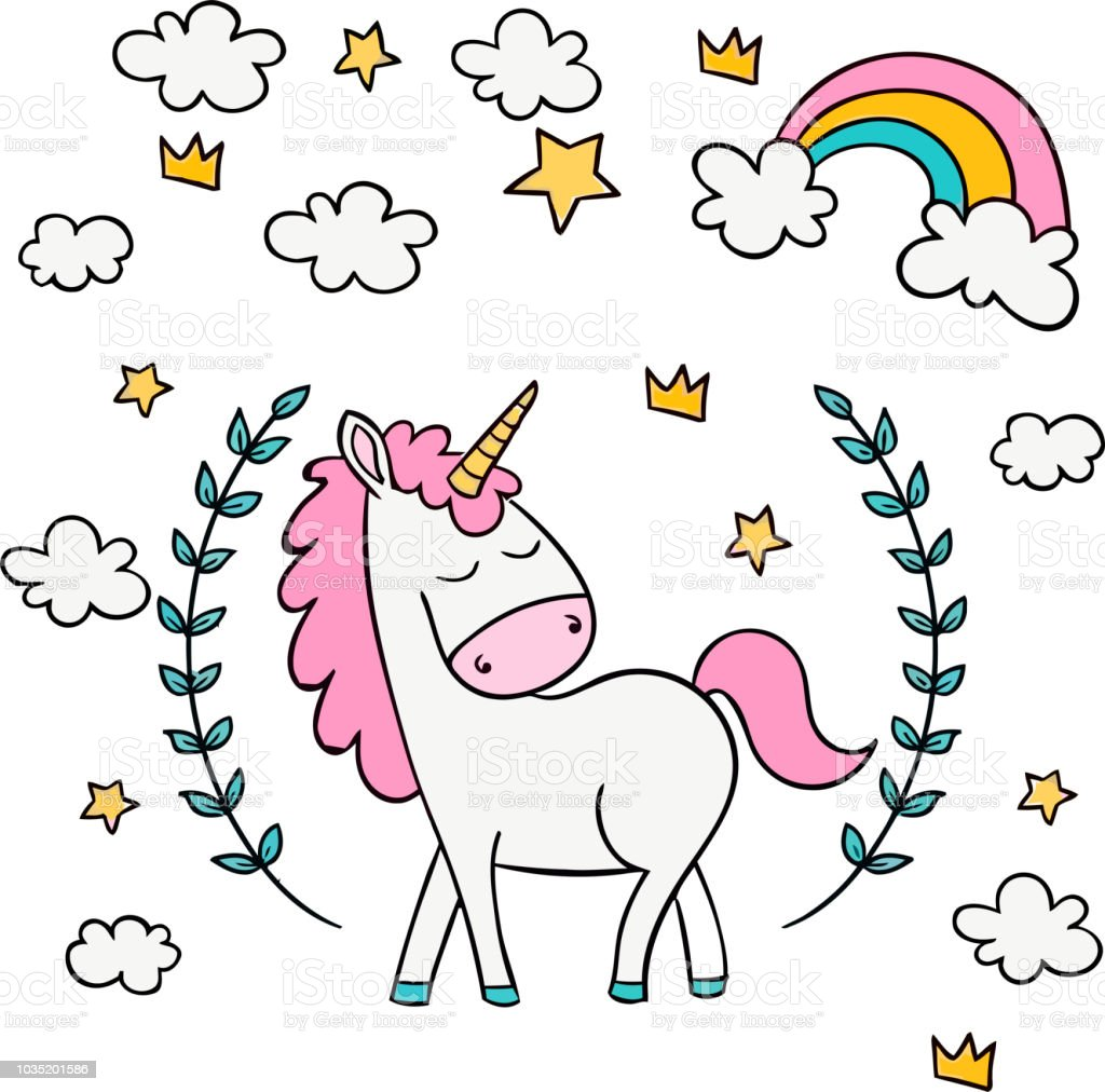cute unicorn clipart - 650×937