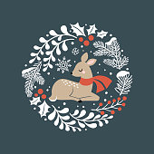 Vector design, perfect for tee shirt logo, greeting card, poster, invitation or print design.