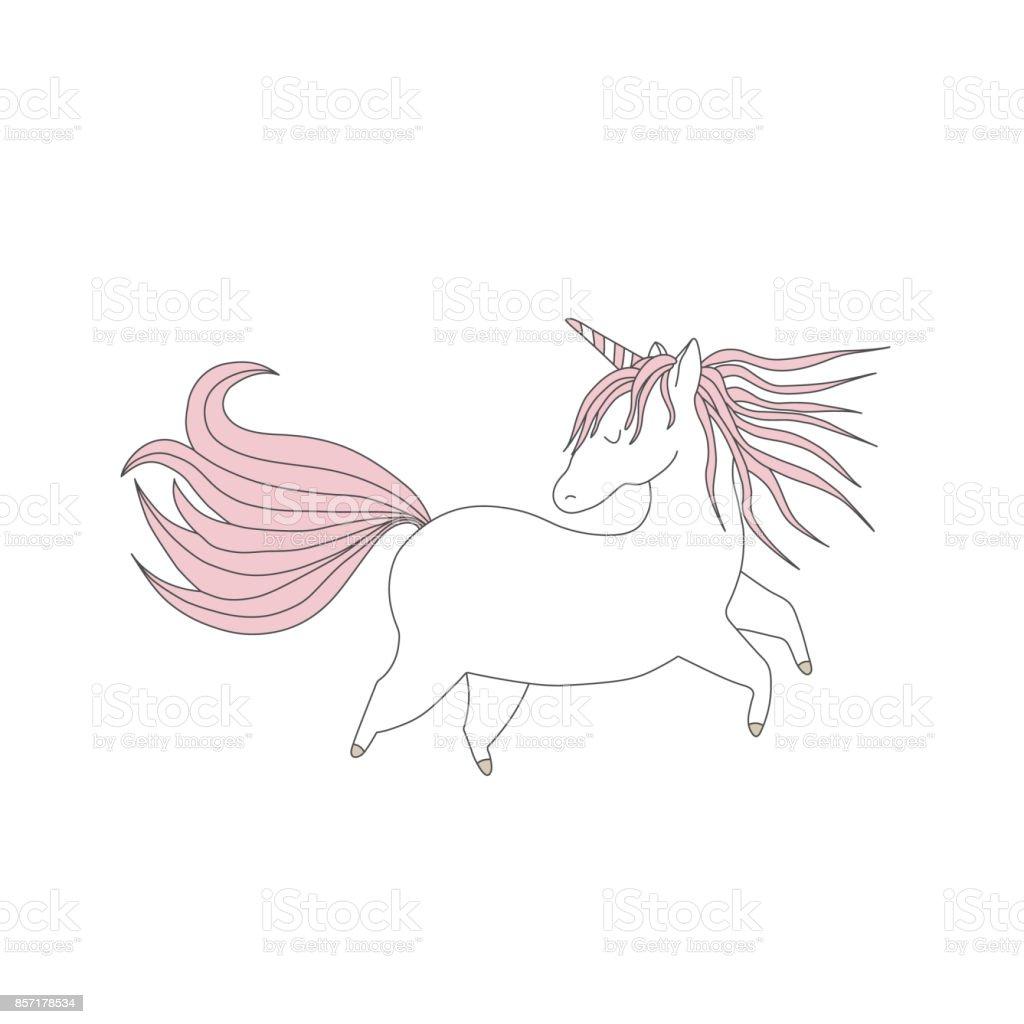 Ilustración de Ilustración De Vector De Handdrawn Lindo Unicornio ...