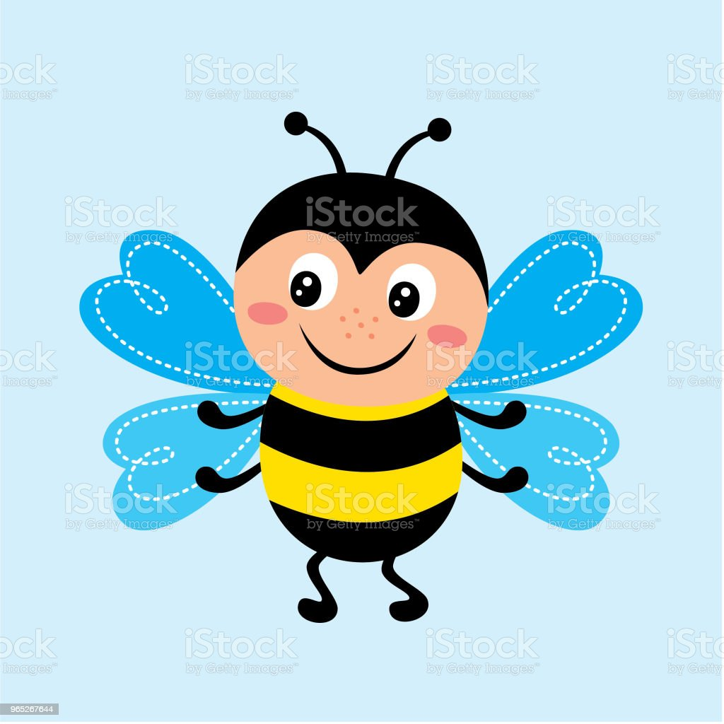 cute happy bee vector royalty-free cute happy bee vector stock vector art & more images of animal body part