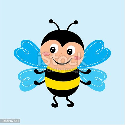 Cute Happy Bee Vector Stock Vector Art & More Images of Animal Body Part 965267644