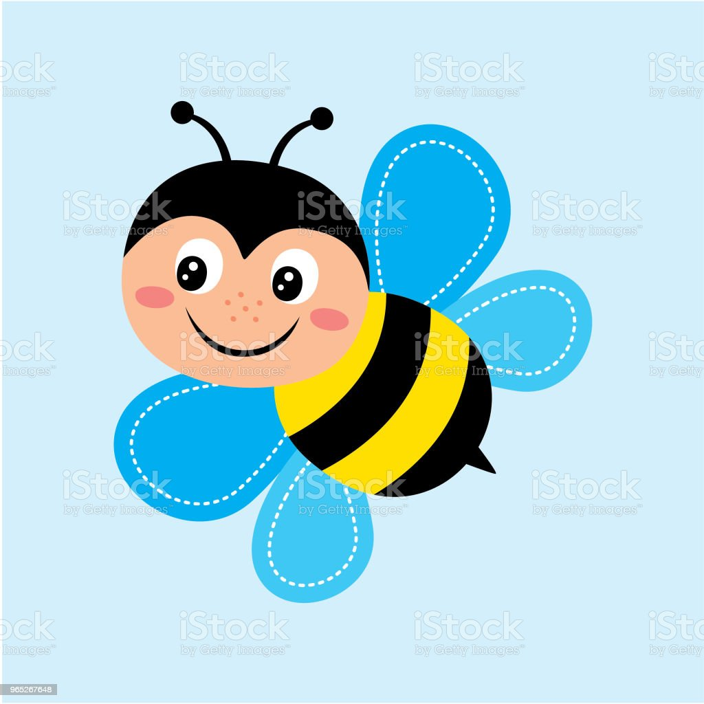 cute happy bee vector royalty-free cute happy bee vector stock illustration - download image now