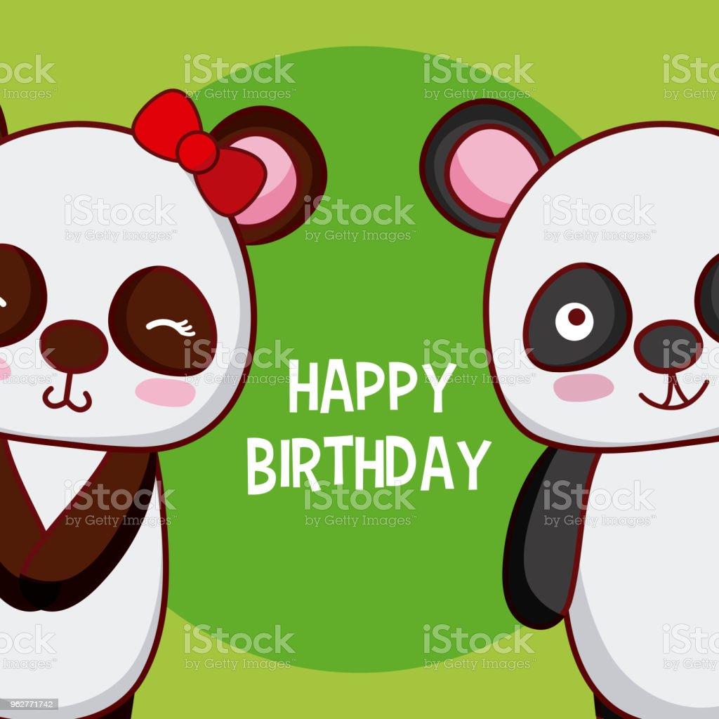 Susse Happy Birthday Card Lizenzfreies Stock Vektor Art Und Mehr Bilder Von