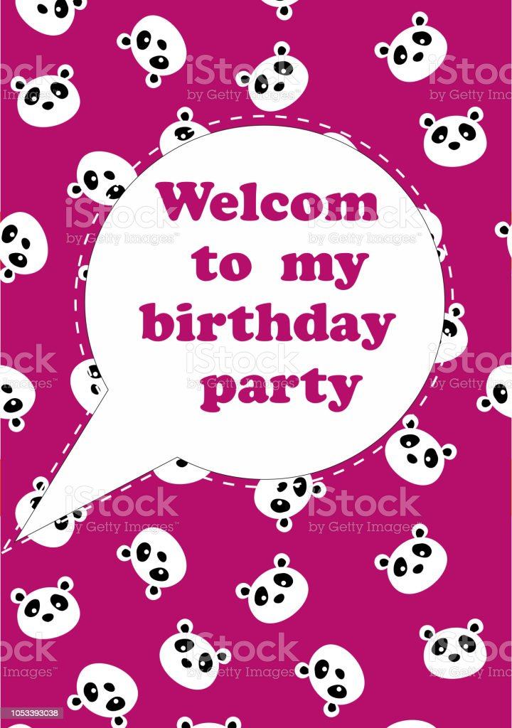 Cute Happy Birthday Cards Invitation Card To The Party