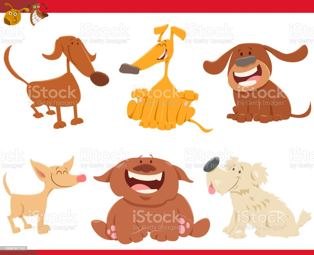 100 Pictures Cartoon Characters cute happy dogs cartoon characters stock illustration