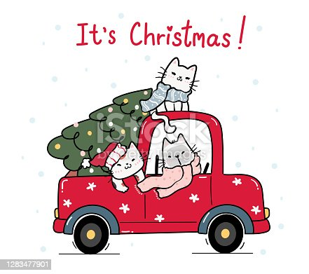 cute happy kitten cat with christmas tree on red truck car cartoon vector id1283477901?b=1&k=6&m=1283477901&s=170667a&h=gma3gSTBayk8YcpP2J5CGMCyqphPOyZ68Ew mZHT 3c=