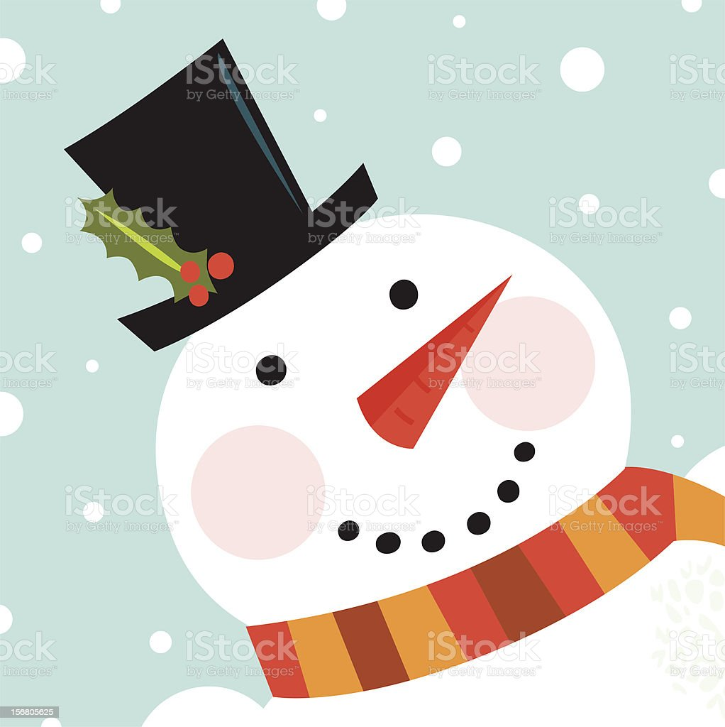 snowman faces clip art