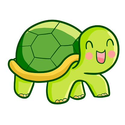 Cute Happy Turtle Walking Stock Illustration - Download ...