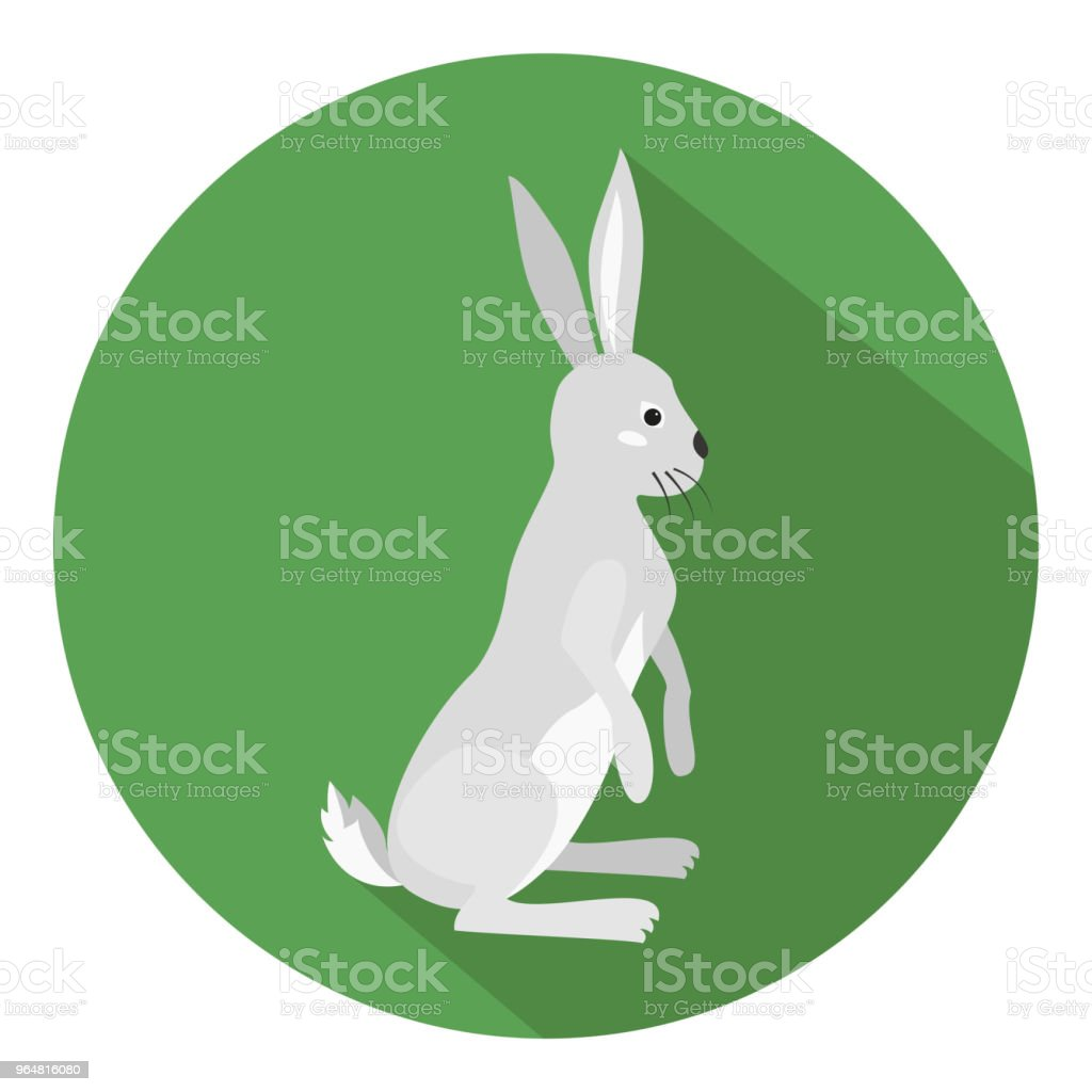 Cute hare on green background. royalty-free cute hare on green background stock vector art & more images of animal