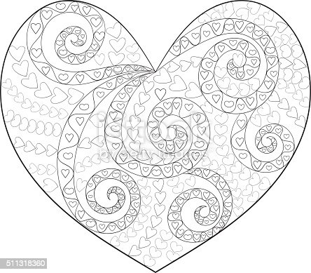 Cute heart with high details.