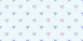 Cute hearts seamless pattern vector background