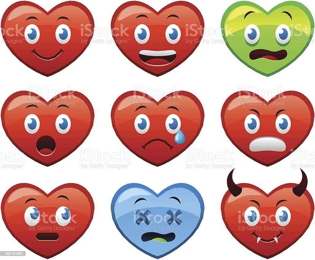Linda corazones - ilustración de arte vectorial