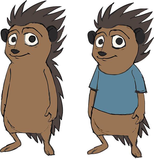 Niedlich-Igel Tier cartoon-Figur – Vektorgrafik