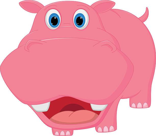 Best Hippo Face Cartoon Illustrations, Royalty-Free Vector ...