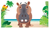 Vector Cute Hippo