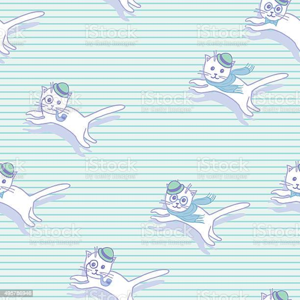 Cute hipster cats seamless pattern pets retro background vector id495786946?b=1&k=6&m=495786946&s=612x612&h=wouy jghwnzuagvwab96e jvikambkhr8cpfvptz54q=